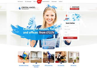 "Website for ""Cristal Angel"" - cleaning services."