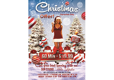 "Xmas leaflet design for the tanning studio ""Mila Lipska"""
