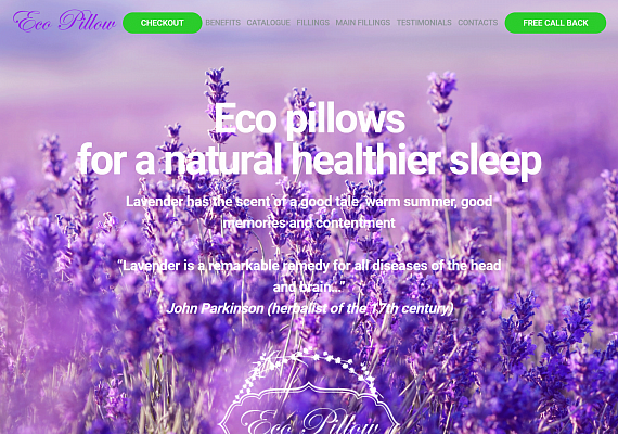 "Website for ""Eco Pillow"""